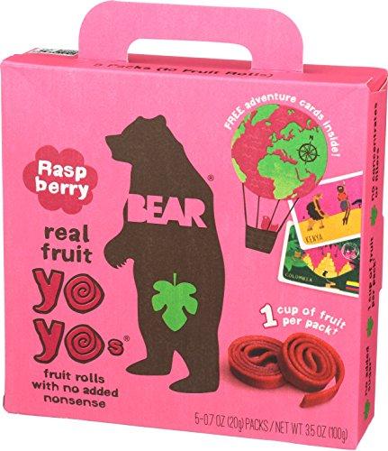 Bear Yoyo Fruit Roll Raspberry Multipack, 3.5 oz