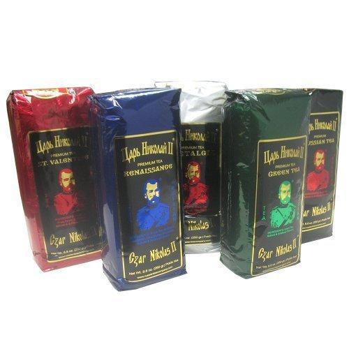 Gourmet Gift Tea Set ''Czar Nicholas II'', 5 Flavors by Tea Nicholas by Tea Nicholas (Image #1)