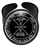 WitchAndRich 3rd Venus Solomon Seal for Love and Admiration 3/4 Round Black Ring