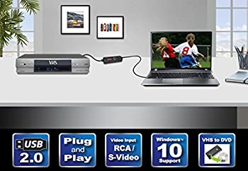 Diamond Vc500 Usb 2.0 One Touch Vhs To Dvd Video Capture Device With Easy To Use Software, Convert, Edit & Save To Digital Files For Win7, Win8 & Win10 2