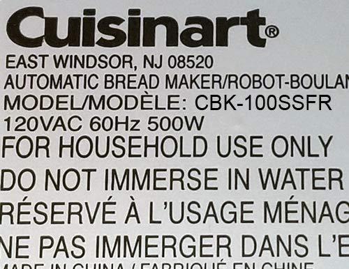 Pala para amasar compatible con Cuisinart modelo CBK-100SSFR (CBK ...