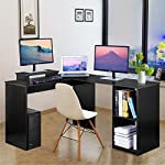 DOSLEEPS Computer Desk, L-Shaped Large Corner PC Laptop Desk Study Table Workstation Gaming Desk for Home and Office…