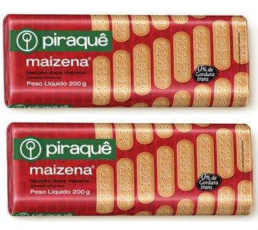 Piraque - Biscoito Doce De Maizena 200g (Pack Of 2)