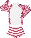 Snapper Rock Girl's RashGuard Set-12-Red