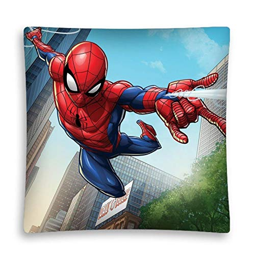 AHS Spiderman - Funda de cojín Infantil (40 x 40 cm, Relleno ...