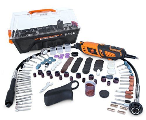 1.3-Amp Variable Speed Steady-Grip Rotary Tool with 190-Piece Accessory Kit, Flex Shaft, and Carrying Case - WEN 23190