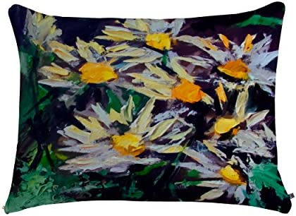 Deny Designs Ginette Fine Art Abstract Sunflowers Pet Bed