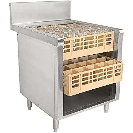 Advance Tabco PROR 19 24 Prestige Series 24 X 25 Stainless Steel Glass Rack Storage Cabinet With Open Top