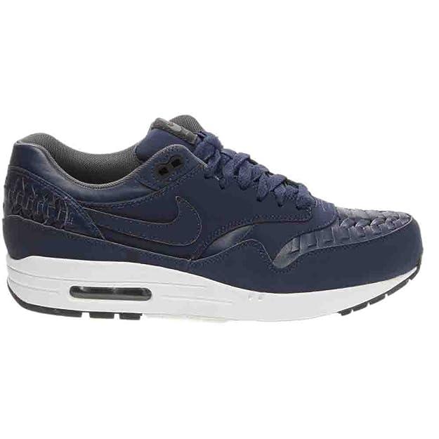 wholesale dealer 9b5d7 0cd56 Nike - Air Max 1 Woven - Couleur  Bleu marine - Pointure  45.0  Amazon.fr   Chaussures et Sacs