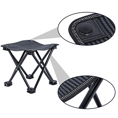 Lightweight Outdoor Folding Chair for Camping Fishing Travel Hiking Garden BiBOSS Mini Folding Stool Portable Square Stools Foldable Chair with Carry Bag 10.2x10.2 Inch