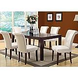 Monarch Specialties Veneer Top Dining Table, 40-Inch by 60-Inch by 78-Inch, Dark Espresso