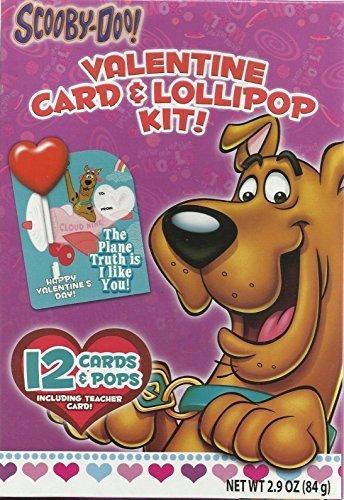 Scooby-Doo! 12 Valentine Card & Lollipop Kit