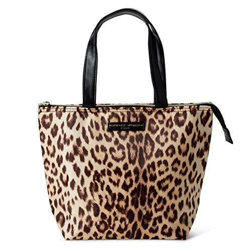 Leopard Print Tote - Insulated Lunch Tote Bag Set: Adrienne Vittadini Lunch Box - Large Reusable Lunch Bag for Women - Leopard Floral