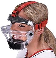 Markwort Game Face Sports Safety Mask, Clear/Scarlet, Medium