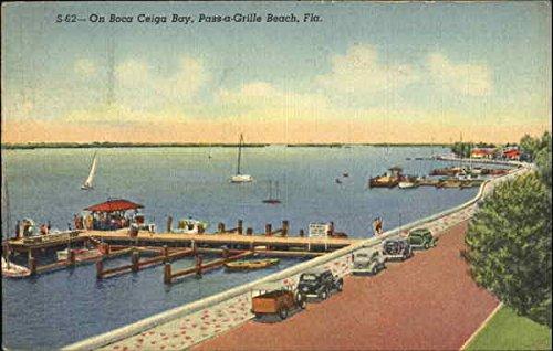 Bay Boca (On Boca Ceiga Bay Pass-a-Grille Beach, Florida Original Vintage Postcard)