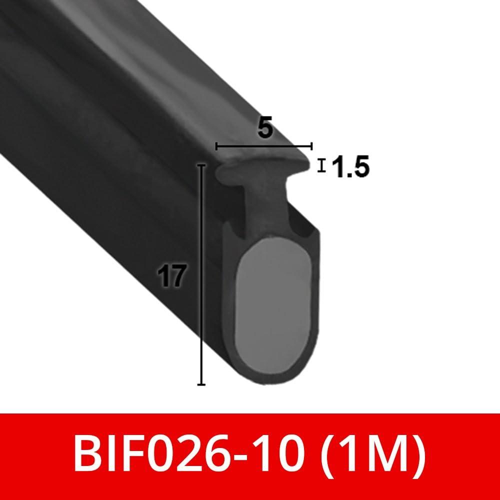 Suave y flexible sello de goma negro para mampara de ducha, para puertas plegables, se adapta a un canal de 5 mm BIF026: Amazon.es: Bricolaje y herramientas