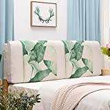 AIDELAI Backrest- Bedside Cushion, Double Bed Large Back Plant Flower Sofa Pillow can be Cleaned, with headboard/no headboard, 5 Colors, 3 (Color : 2#, Size : No headboard-150cm)