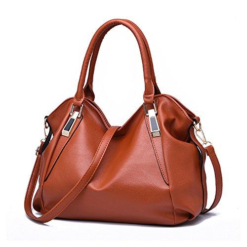 GUANGMING77 Tragbares Ein Umhängetasche Messenger Bag_Laptop Brown bag iBJBDLtQ