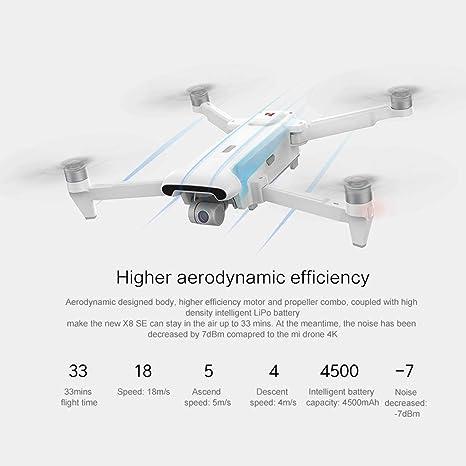 SUNFANY Fimi X8 Se - Dron de 5 m FPV de 3 Ejes de Gimbal 4 K ...