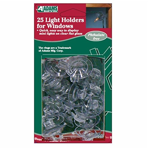 Adams @ WOWOOO Light Holders for Windows - Suction Cups - hold Christmas fairy lights - pack of 25