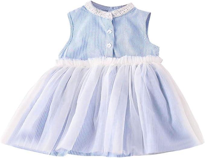 ASHOP Vestidos niñas Fiestas Boda Faldas Cuadros Vestido Verano ...