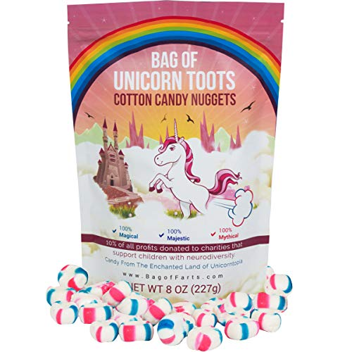 Little Stinker Bag of Unicorn Toots Half Pound of Candy Funny for All Ages Unique Birthday for Friends, Mom, Dad, Girl, Boy Stocking Stuffer While Elephant Funny Christmas Gag Gift