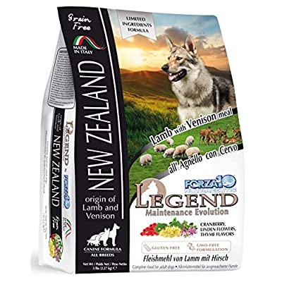 Forza10 Legend Dog Food, New Zealand Lamb and Venison Flavor, Grain-Free Dry Dog Food