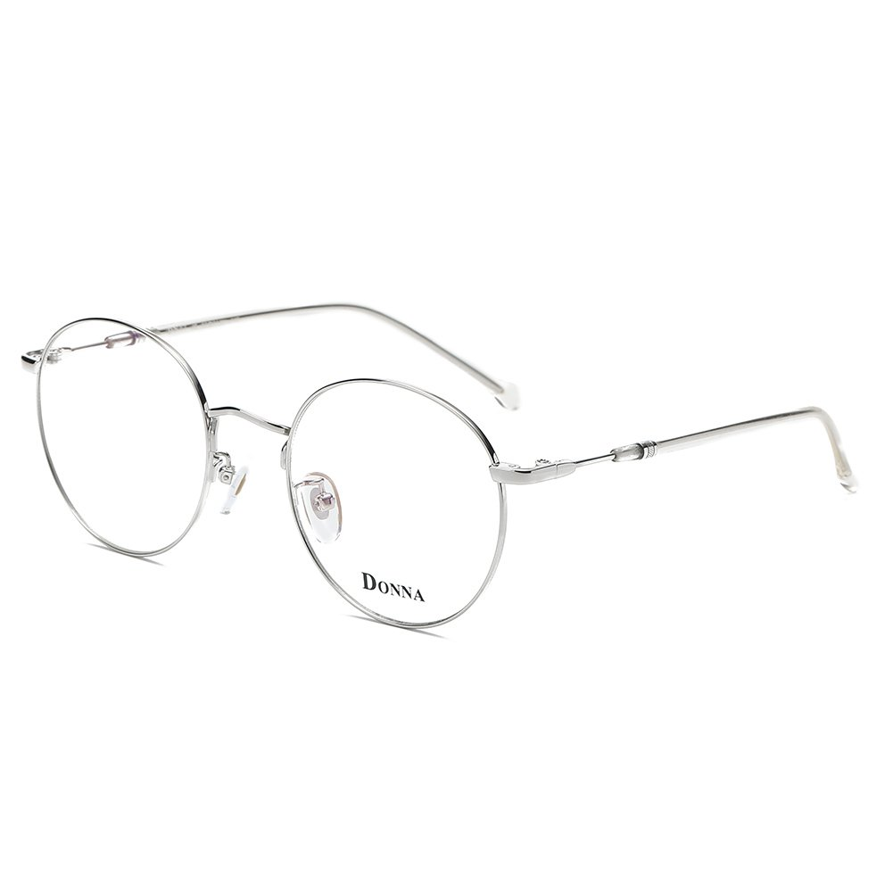 DONNA Stylish Clear Lens Women Glasses Samll Circle Round Frame Blue Light Blocking for Computer DN47-JC