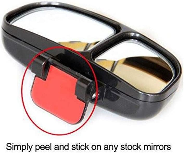 Attaches to Your Exterior Car Mirror Large /& Adjustable T-Rex Blind Spot Mirror 5.5x4