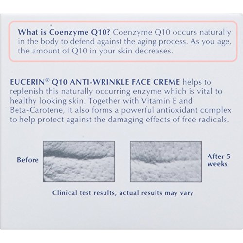 514I2HMnUZL - Eucerin Q10 Anti-Wrinkle Face Cream - Fragrance Free, Moisturizes for Softer Smoother Skin - 1.7 Ounce (Pack of 1)