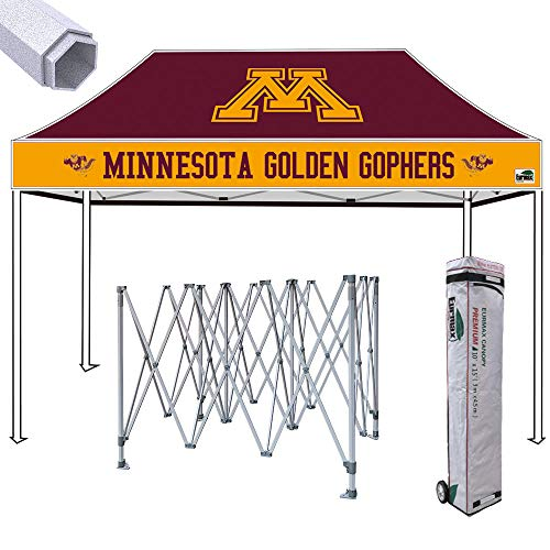 Eurmax Premium 10×15 Ez Pop up Canopy Commercial Tent Imprinted Fair Vendor Tent with Your Logo Bonus Roller Bag