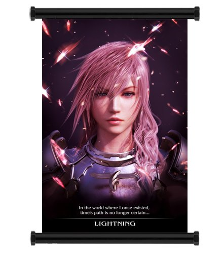 1 X Final Fantasy Xiii-2 Game Fabric Wall Scroll Poster