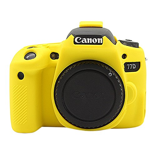 Camera case Funda protectora de silicona suave for Canon EOS 77D ...