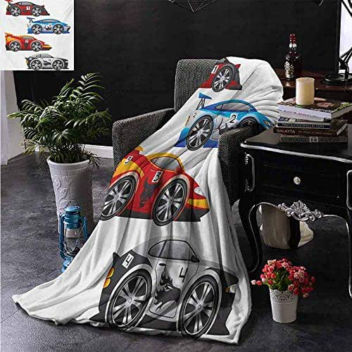 ZSUO Plush Blanket Collection of Formula Race Cars Modern Mechanical Technology Automotive Championship Blanket for Sofa Couch TV Bed All Season 35