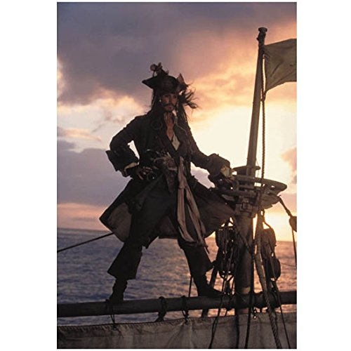 Pirates of the Carribean: The Curse of the Black Pearl Johnny Depp as Captain Jack Sparrow Standing Legs Spread 8 x 10 Inch Photo Captain Jack Sparrow Poster