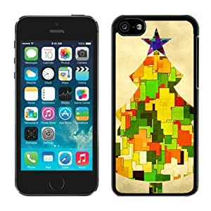 LJF phone case Iphone 5C Case,5C cases,Christmas tree Iphone 5C Case Black Cover