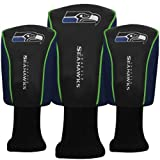 McArthur Seattle Seahawks Mesh Barrel Golf Head Cover 3 Pack NFL