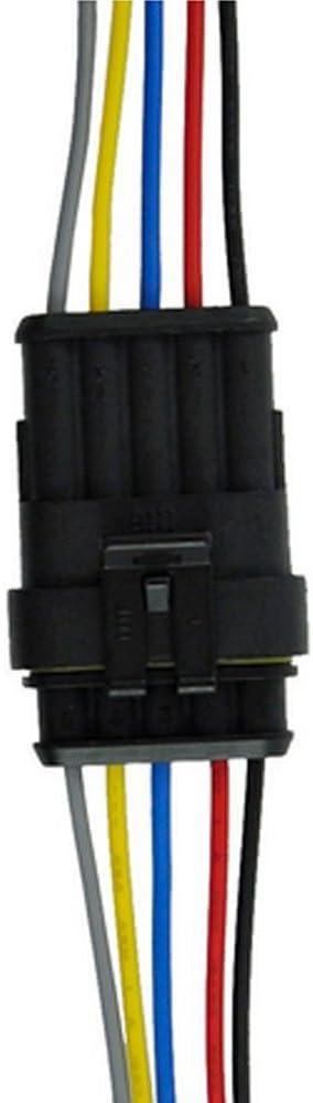 Mintice 1-6 Polig Kabel Steckverbinder Stecker Wasserdicht Schnellverbinder Draht Elektrisch Ausr/üstung KFZ Blattsicherung Box
