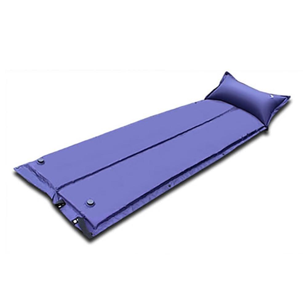 MIAO Automatische aufblasbare Auflage/Luftmatratzen, im Freien faltender Schwamm-Schlafenauflage , Blau