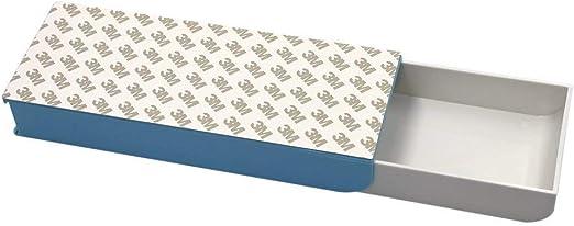 Selbstklebende Kleine Unter-Tisch-Versteckte Aufbewahrungsbox Schublade Federm/äppchen Unterbau Schreibtisch Schublade F/ür Die Lagerung Kleiner Gegenst/ände Zu Hause//B/üro 23,5 X 19,8 X 7,1 Cm