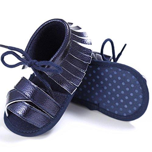 Zapatos de bebé, Switchali Recién nacido bebe niña verano Princesa zapatos Niñas Cuna Suela blanda Antideslizante Zapatillas borla vestir casual Calzado de deportes Sandalias Armada