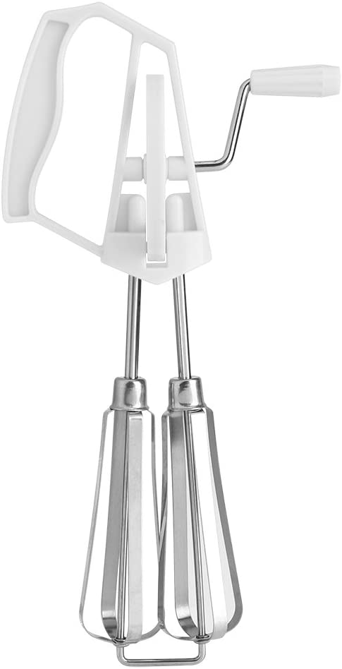 Stainless Steel Rotary Hand Whip Whisk Egg Beater Mixer Cooking Tool Kitchen #1 Egg Beater