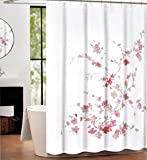 Pink and Grey Shower Curtain Tahari Home Luxurious Fabric Shower Curtain- Printemps Light Pink & Grey-72