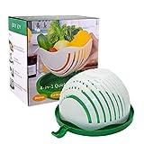 JolyJoy Salad Cutter Bowl, FDA Approved, 60 Second Fast Salad Serve, Quick Chop Salad Maker, Fruit/Vegetable Easy Slicer & Safe Chopper, Upgraded Family Size