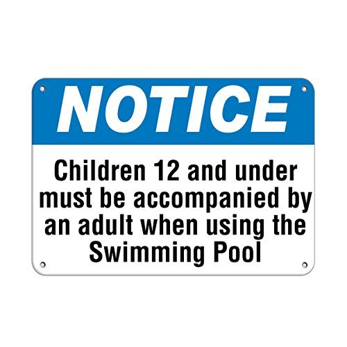 Milwaukee Brewers Led (Personalized Metal Signs Notice Use Swimming Pool Under Age 12 With An Adult Aluminum METAL Sign 8 X 12 Inch)
