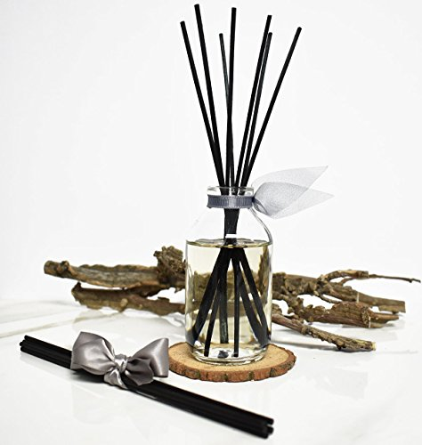 LOVSPA Romantic Smokey Fireside Embers Reed Diffuser Set by Includes a Wood Slice Coaster! Glowing Embers, Wood Smoke, Saffron Suede & Amber Cognac | A Masculine Scent | Gift for Dad or Husband! by LOVSPA (Image #4)