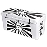 MightySkins Protective Vinyl Skin Decal for YETI Tundra 160 qt Cooler wrap Cover Sticker Skins Star Rays