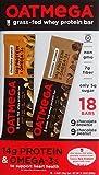 Cheap Oatmega Grass-Fed Whey Bars Variety Pack of 18 – 9 Chocolate Brownie & 9 Chocolate Peanut Oatmega Whey Protein Bars