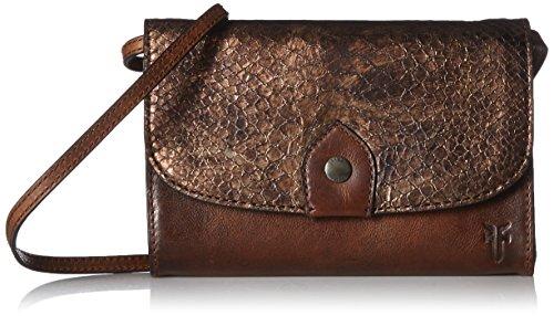 FRYE Bronze Melissa Wallet Leather Clutch Crossbody Bag 8xg8qwpr