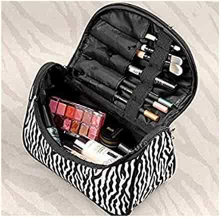 1beb0c4783b2 Blazers18 Fashion Zebra Pattern Lady Makeup Bag Women Portable Cosmetic  Toiletry Bags Travel Storage Organizer